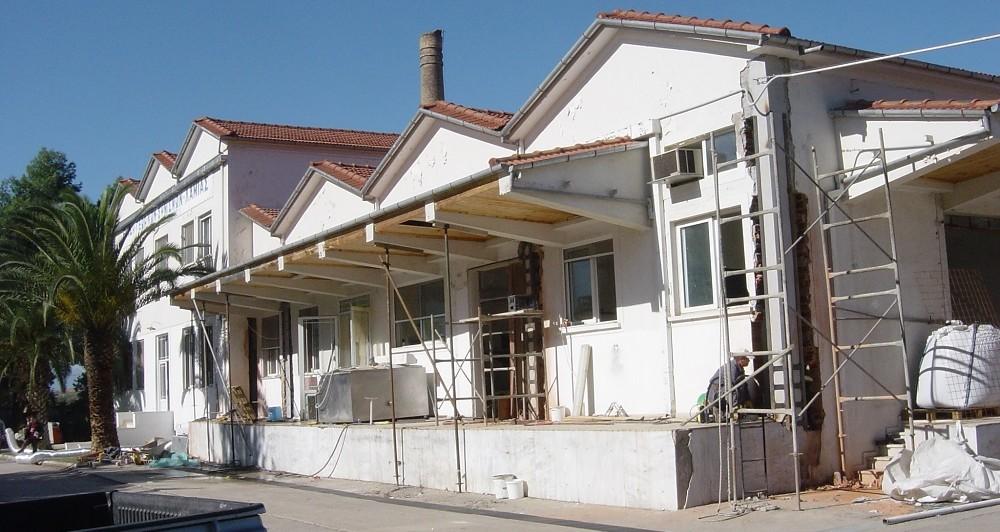 Исследование основных опорных конструкций здания завода по выпуску молочной продукции в Ламии (Центральная Греция)